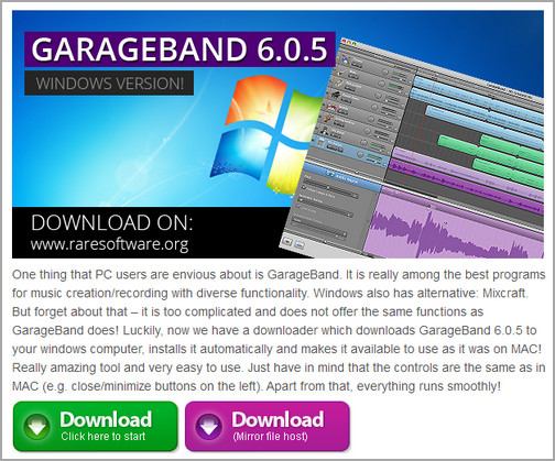 GarageBand Download Screen