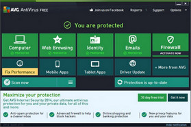 AVG Antivirus Interface