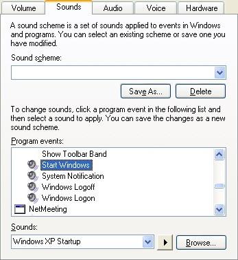 Windows XP Startup sound change