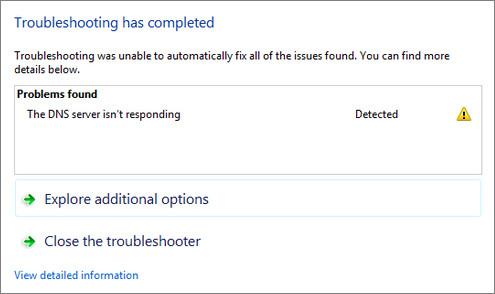 DNS Server is Not Responding Error