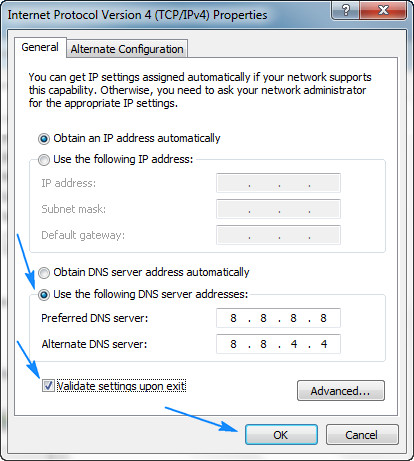 Change DNS Server Addresses