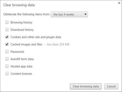 Clearing Browsing Data