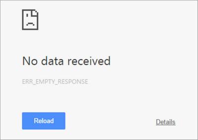 Err_Empty_Response Error Code