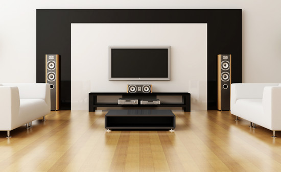 Center Channel Speaker in Home
