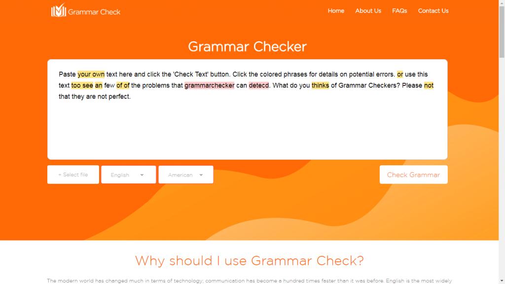 Grammar Checker Tool