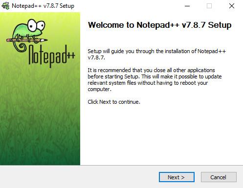 Notepad ++ installer